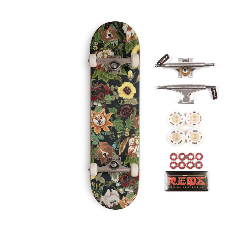 Botanical Puppies Accessories Complete - Pro Skateboard by huebucket's Artist Shop