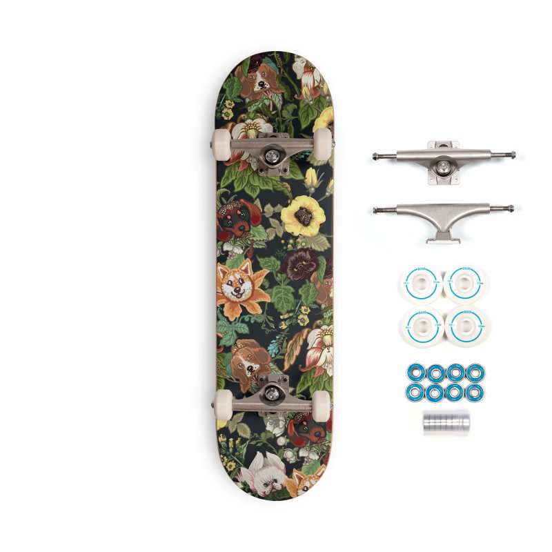 Botanical Puppies Accessories Complete - Basic Skateboard by huebucket's Artist Shop