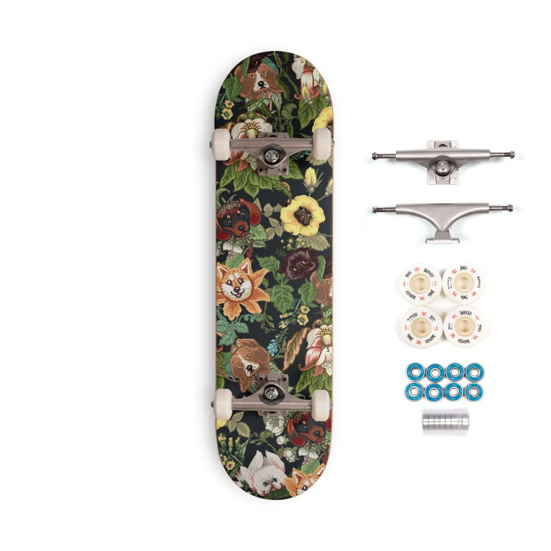 Botanical Puppies Accessories Complete - Premium Skateboard by huebucket's Artist Shop
