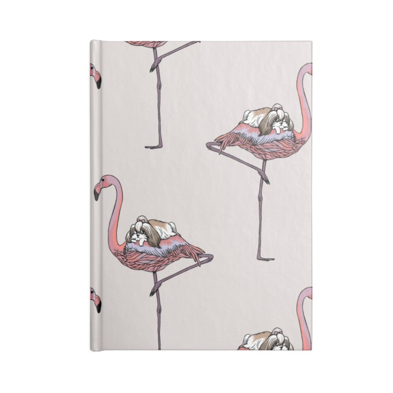Flamingo and Shih Tzu Accessories Notebook by huebucket's Artist Shop