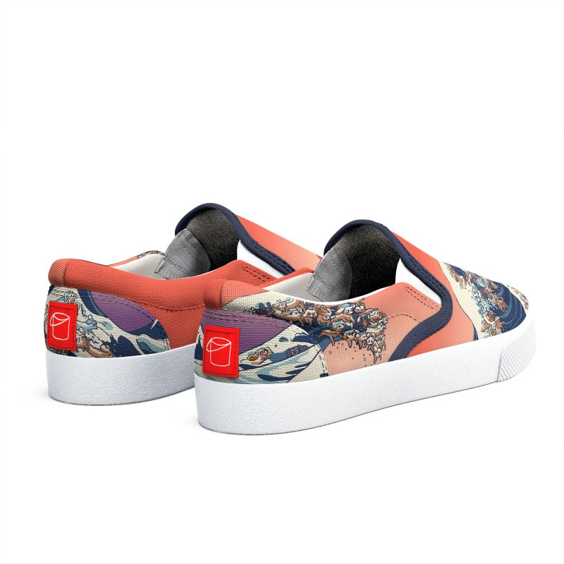 The Great Wave of Dachshunds Women's Shoes by huebucket's Artist Shop