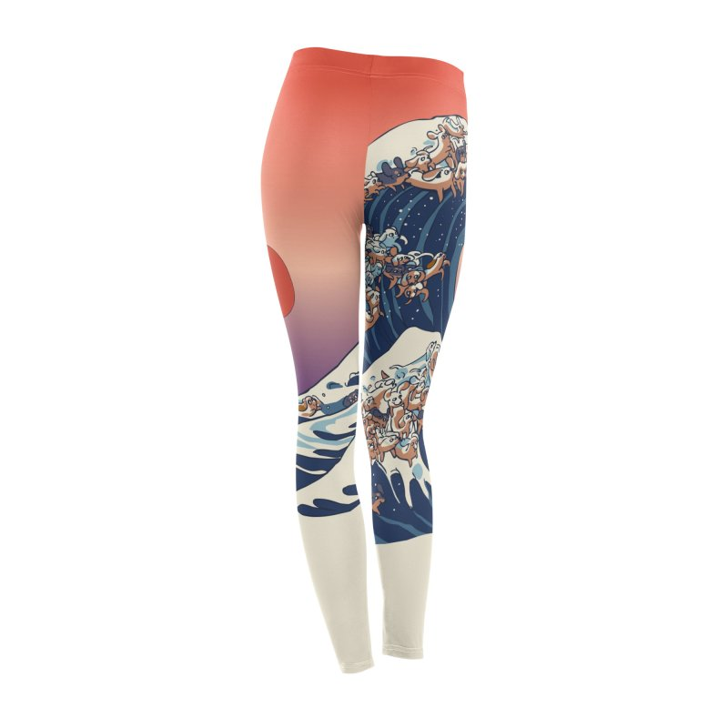 The Great Wave of Dachshunds Women's Bottoms by huebucket's Artist Shop