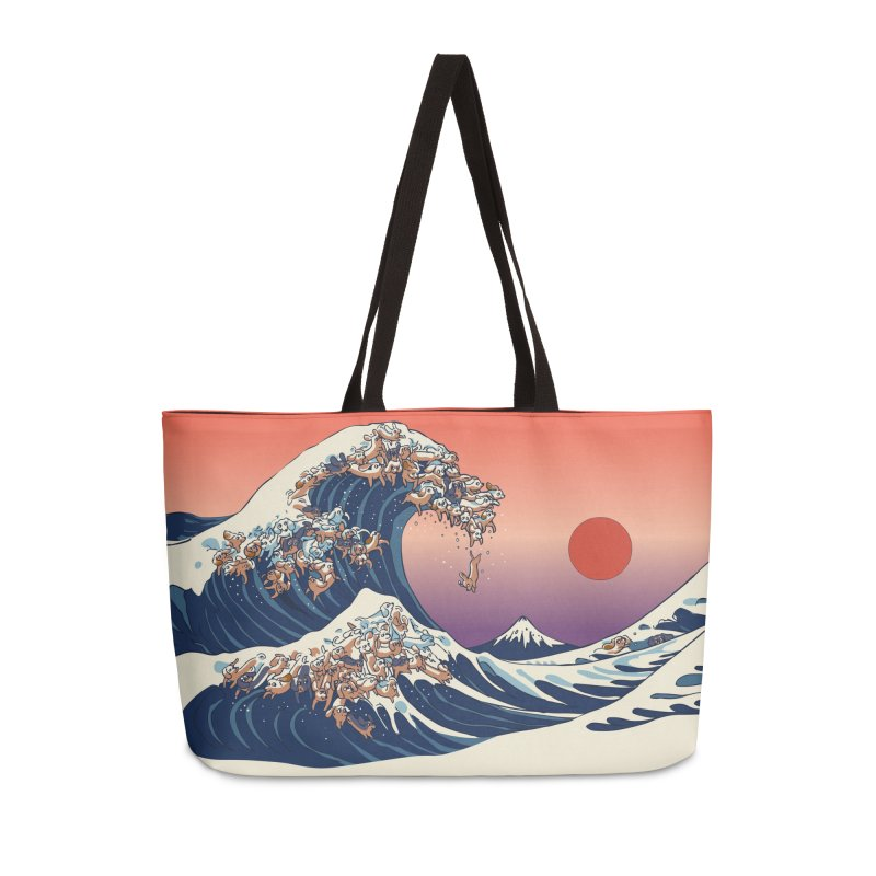 The Great Wave of Dachshunds Accessories Weekender Bag Bag by huebucket's Artist Shop