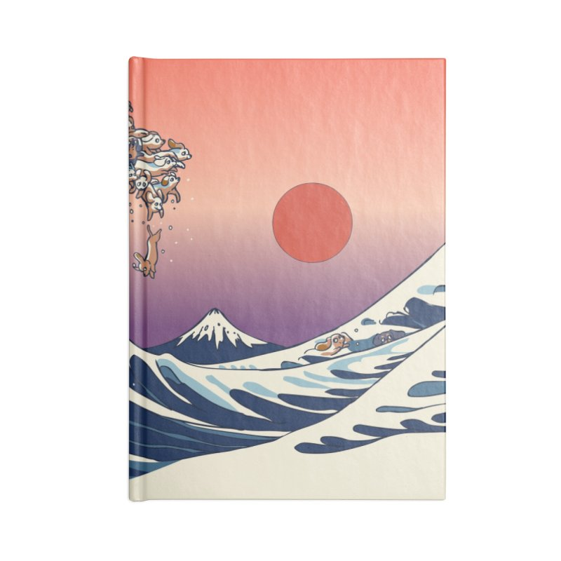 The Great Wave of Dachshunds Accessories Notebook by huebucket's Artist Shop
