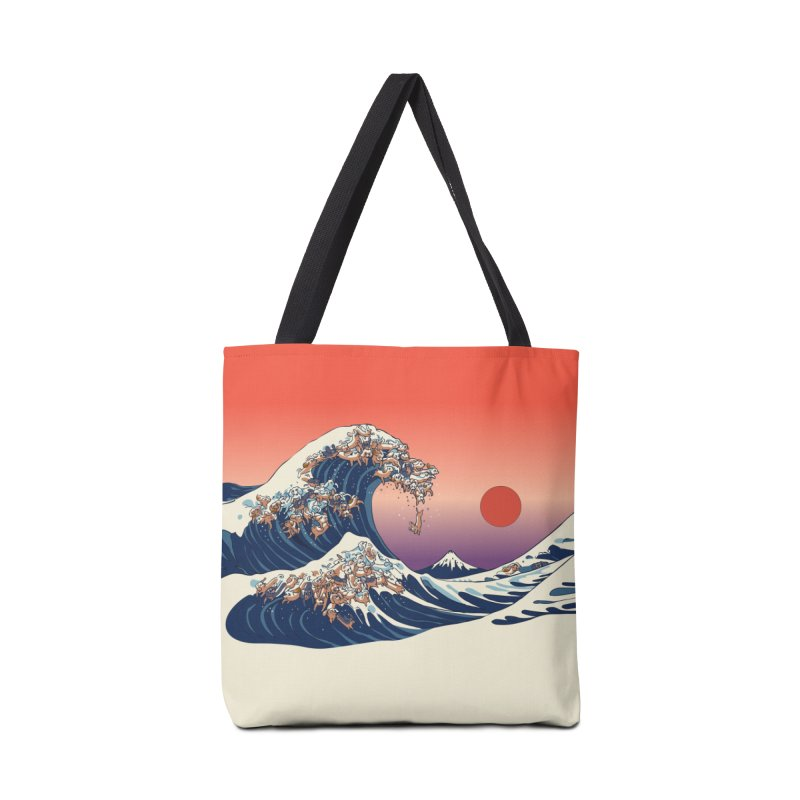 The Great Wave of Dachshunds Accessories Bag by huebucket's Artist Shop