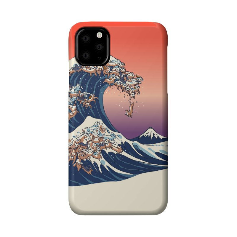 The Great Wave of Dachshunds Accessories Phone Case by huebucket's Artist Shop