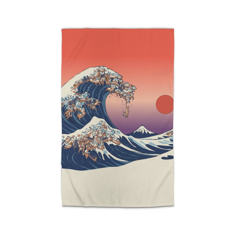 The Great Wave of Dachshunds Home Rug by huebucket's Artist Shop