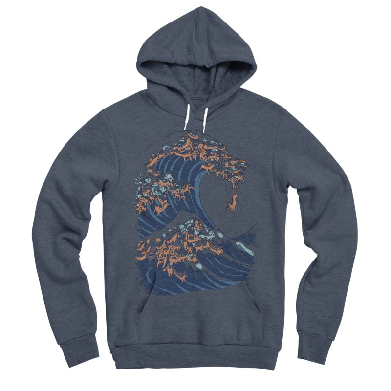 The Great Wave of Dachshunds Women's Sponge Fleece Pullover Hoody by huebucket's Artist Shop