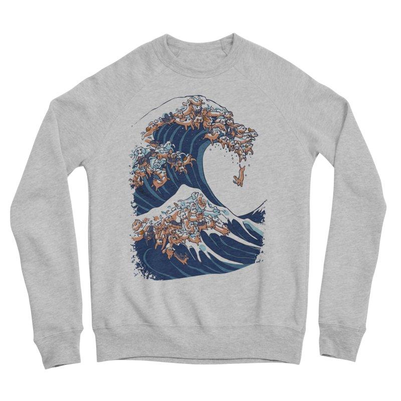The Great Wave of Dachshunds Men's Sponge Fleece Sweatshirt by huebucket's Artist Shop