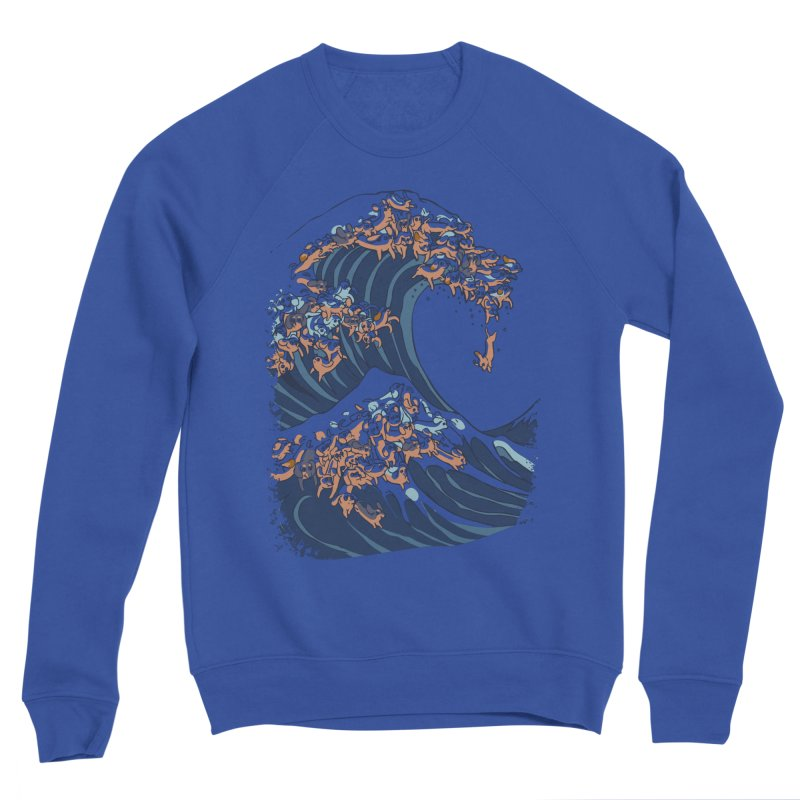 The Great Wave of Dachshunds Women's Sponge Fleece Sweatshirt by huebucket's Artist Shop
