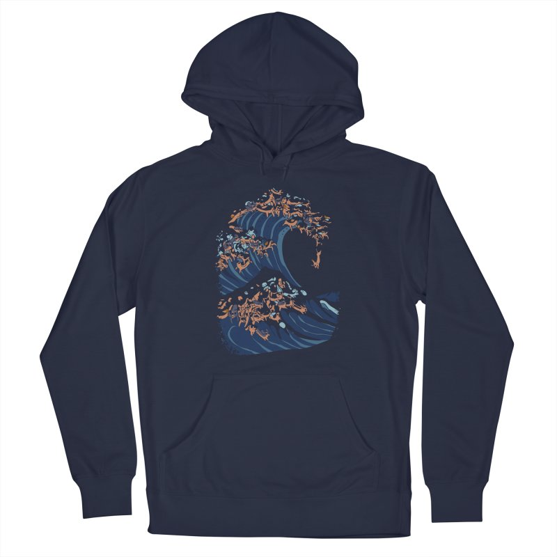 The Great Wave of Dachshunds Men's Pullover Hoody by huebucket's Artist Shop
