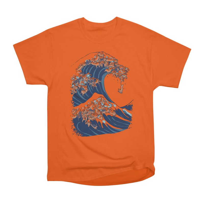 The Great Wave of Dachshunds Men's Heavyweight T-Shirt by huebucket's Artist Shop