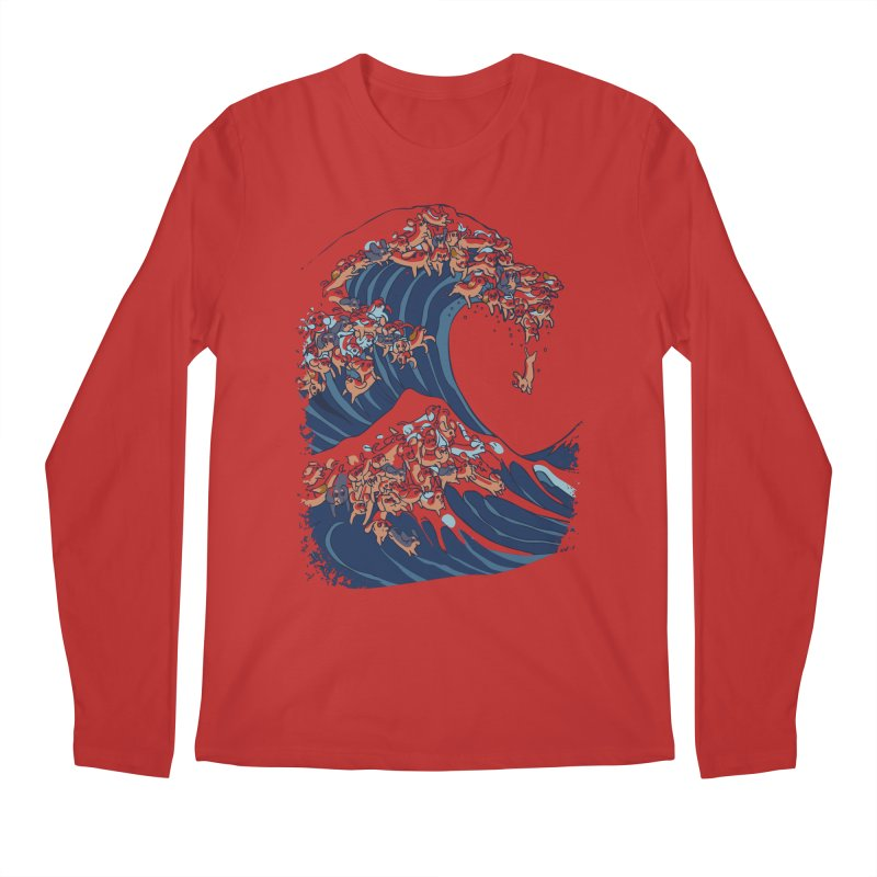 The Great Wave of Dachshunds Men's Longsleeve T-Shirt by huebucket's Artist Shop