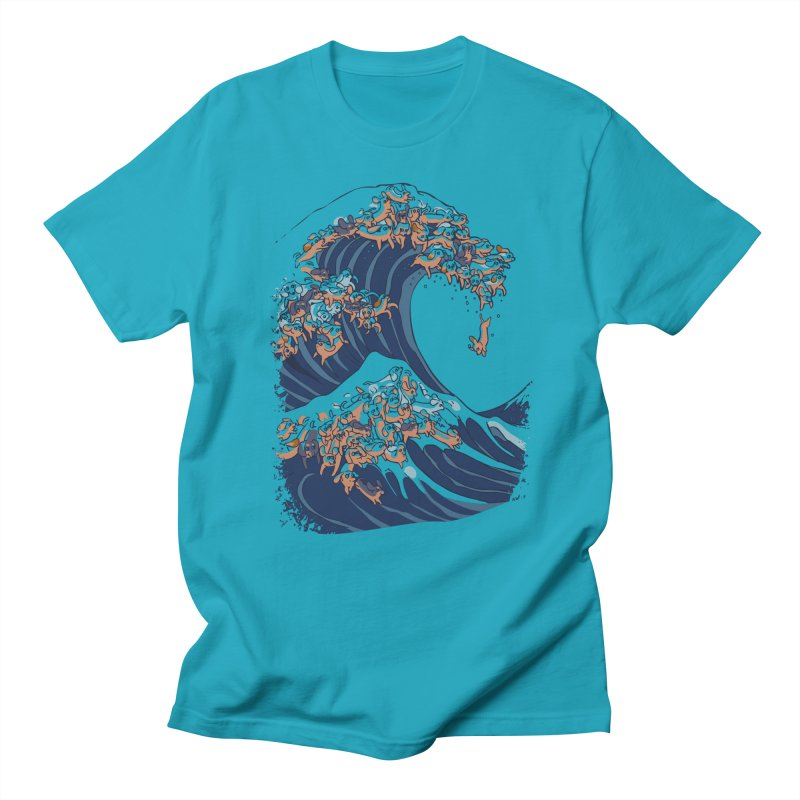 The Great Wave of Dachshunds Men's T-Shirt by huebucket's Artist Shop