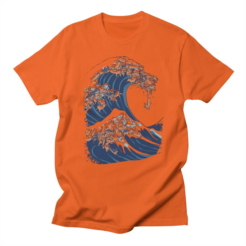 The Great Wave of Dachshunds Women's Regular Unisex T-Shirt by huebucket's Artist Shop