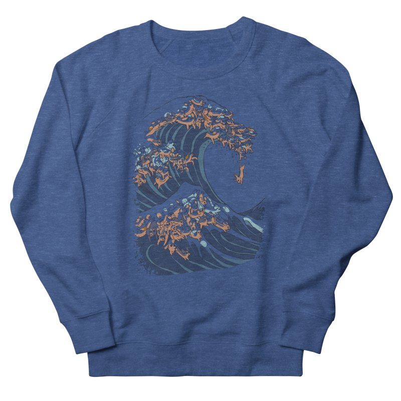 The Great Wave of Dachshunds Women's French Terry Sweatshirt by huebucket's Artist Shop