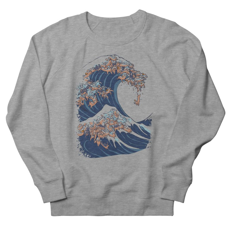 The Great Wave of Dachshunds Men's French Terry Sweatshirt by huebucket's Artist Shop