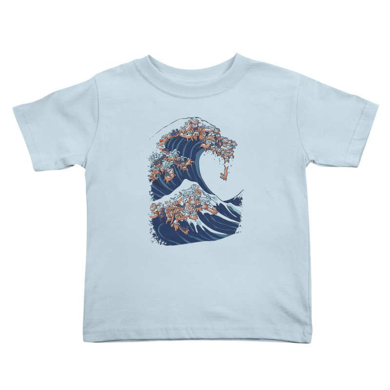 The Great Wave of Dachshunds Kids Toddler T-Shirt by huebucket's Artist Shop