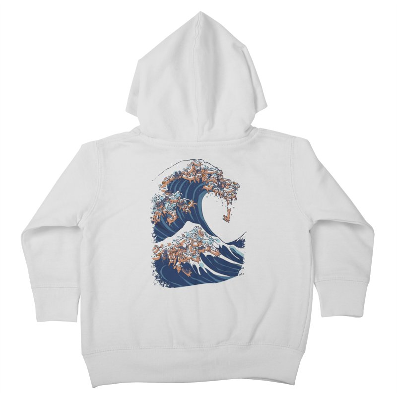 The Great Wave of Dachshunds Kids Toddler Zip-Up Hoody by huebucket's Artist Shop