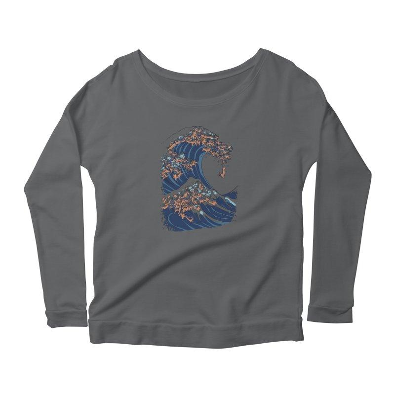 The Great Wave of Dachshunds Women's Longsleeve T-Shirt by huebucket's Artist Shop
