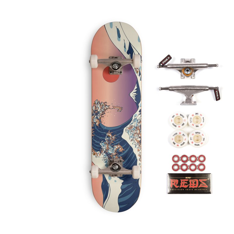 The Great Wave of Dachshunds Accessories Complete - Pro Skateboard by huebucket's Artist Shop