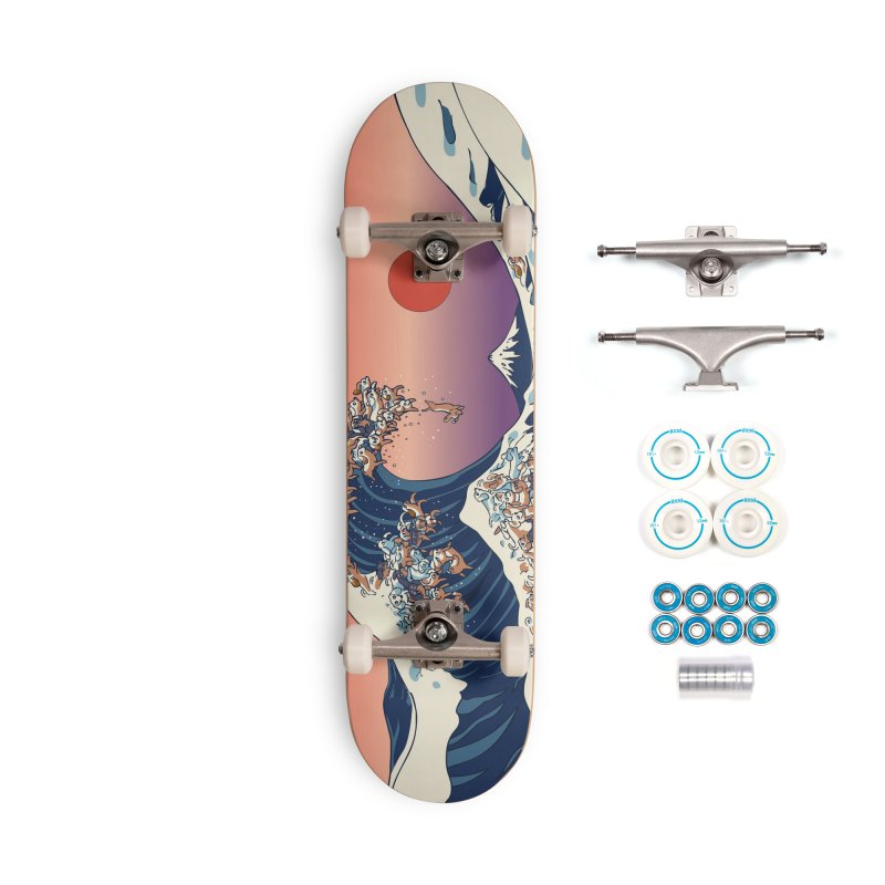 The Great Wave of Dachshunds Accessories Complete - Basic Skateboard by huebucket's Artist Shop
