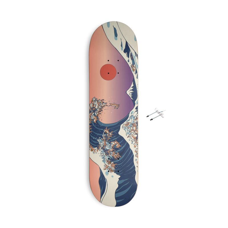 The Great Wave of Dachshunds Accessories With Hanging Hardware Skateboard by huebucket's Artist Shop