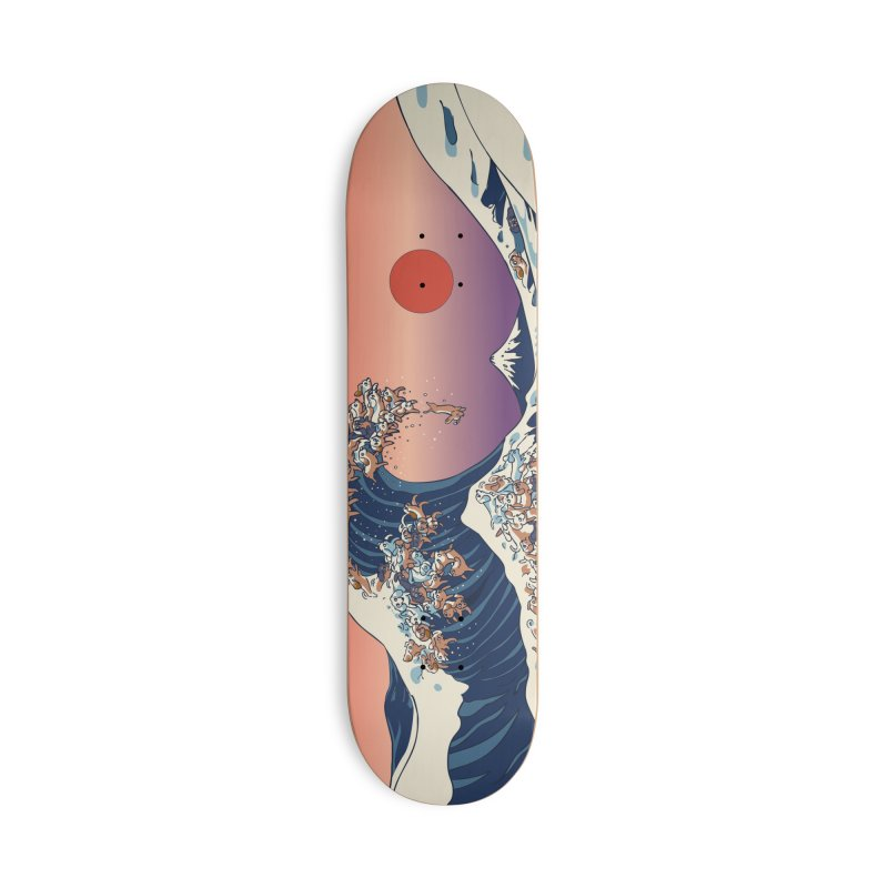 The Great Wave of Dachshunds Accessories Skateboard by huebucket's Artist Shop