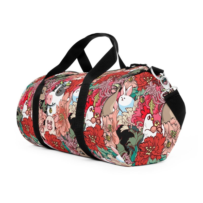 Because Vegan Accessories Duffel Bag Bag by huebucket's Artist Shop
