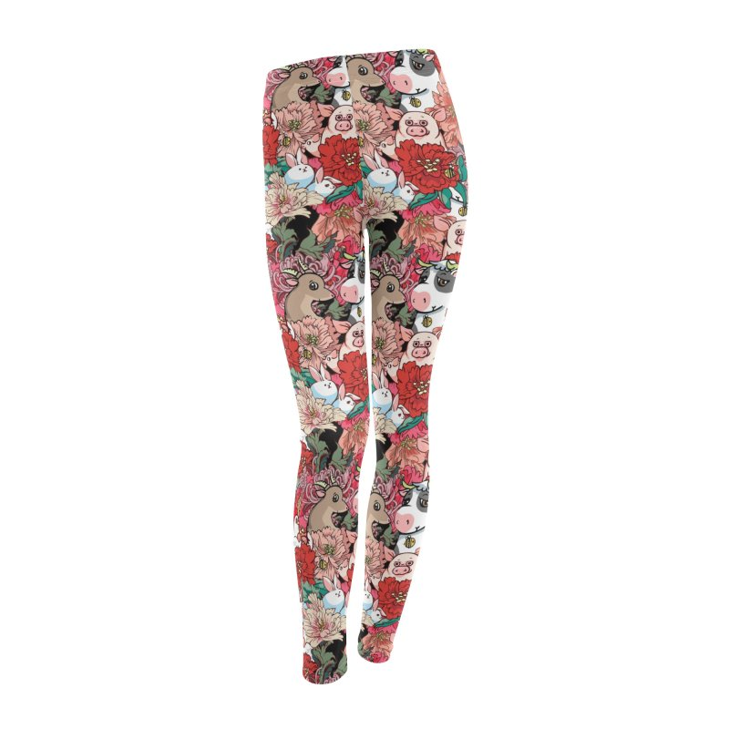 Because Vegan Women's Leggings Bottoms by huebucket's Artist Shop