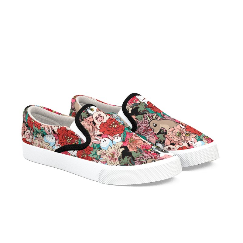Because Vegan Women's Slip-On Shoes by huebucket's Artist Shop