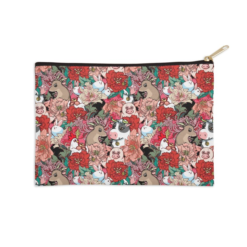 Because Vegan Accessories Zip Pouch by huebucket's Artist Shop