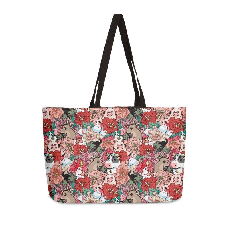 Because Vegan Accessories Weekender Bag Bag by huebucket's Artist Shop