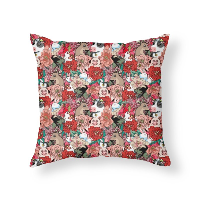 Because Vegan Home Throw Pillow by huebucket's Artist Shop