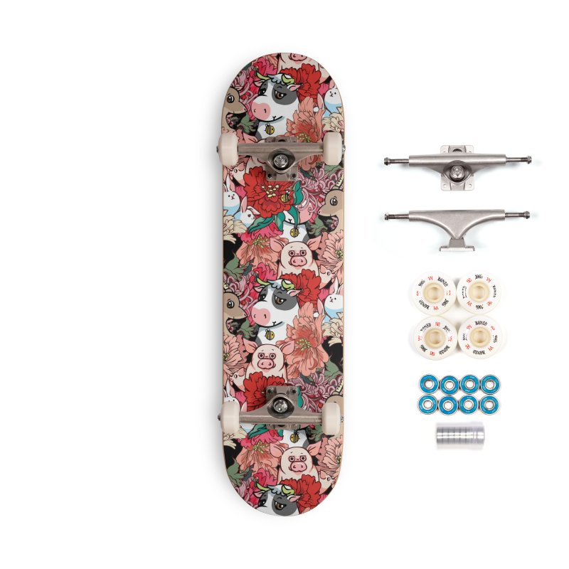 Because Vegan Accessories Complete - Premium Skateboard by huebucket's Artist Shop