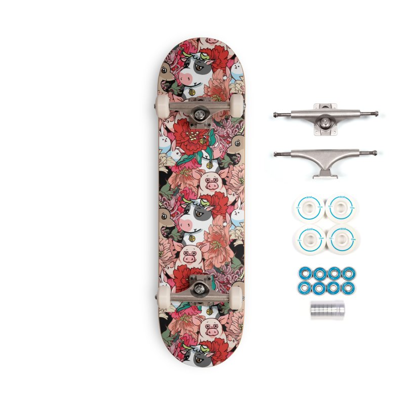 Because Vegan Accessories Complete - Basic Skateboard by huebucket's Artist Shop