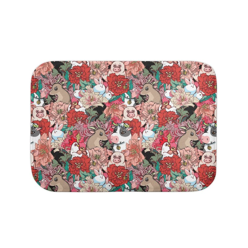 Because Vegan Home Bath Mat by huebucket's Artist Shop