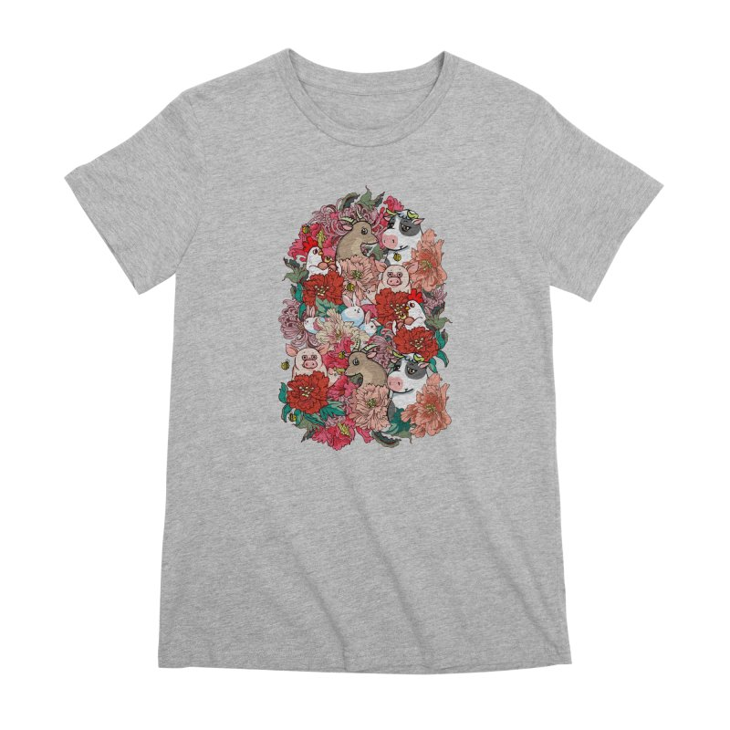 Because Vegan Women's Premium T-Shirt by huebucket's Artist Shop
