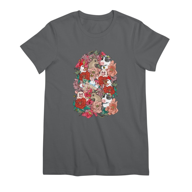 Because Vegan Women's Premium T-Shirt by huebucket's Artist Shop