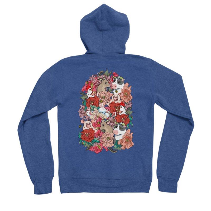 Because Vegan Women's Sponge Fleece Zip-Up Hoody by huebucket's Artist Shop