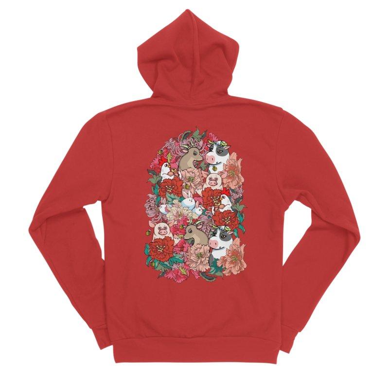 Because Vegan Men's Sponge Fleece Zip-Up Hoody by huebucket's Artist Shop