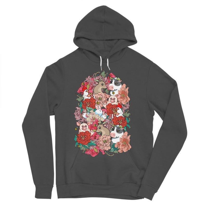 Because Vegan Women's Sponge Fleece Pullover Hoody by huebucket's Artist Shop