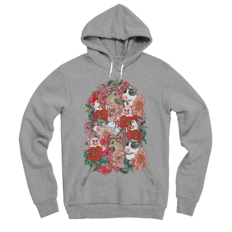 Because Vegan Women's Sponge Fleece Pullover Hoody by huebucket's Artist Shop