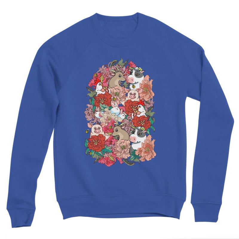 Because Vegan Men's Sponge Fleece Sweatshirt by huebucket's Artist Shop
