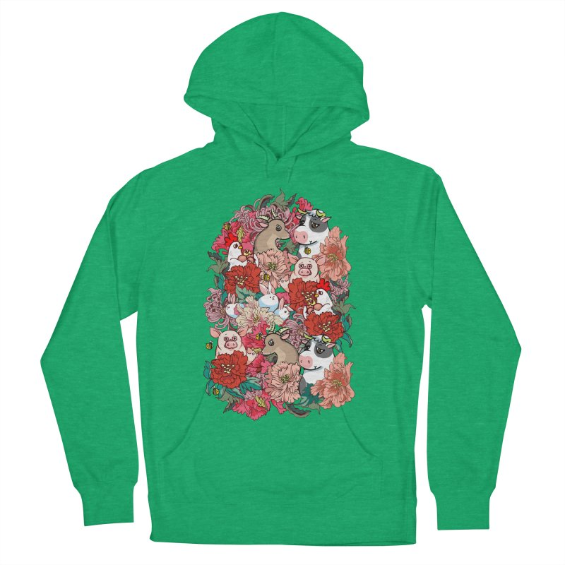 Because Vegan Women's French Terry Pullover Hoody by huebucket's Artist Shop
