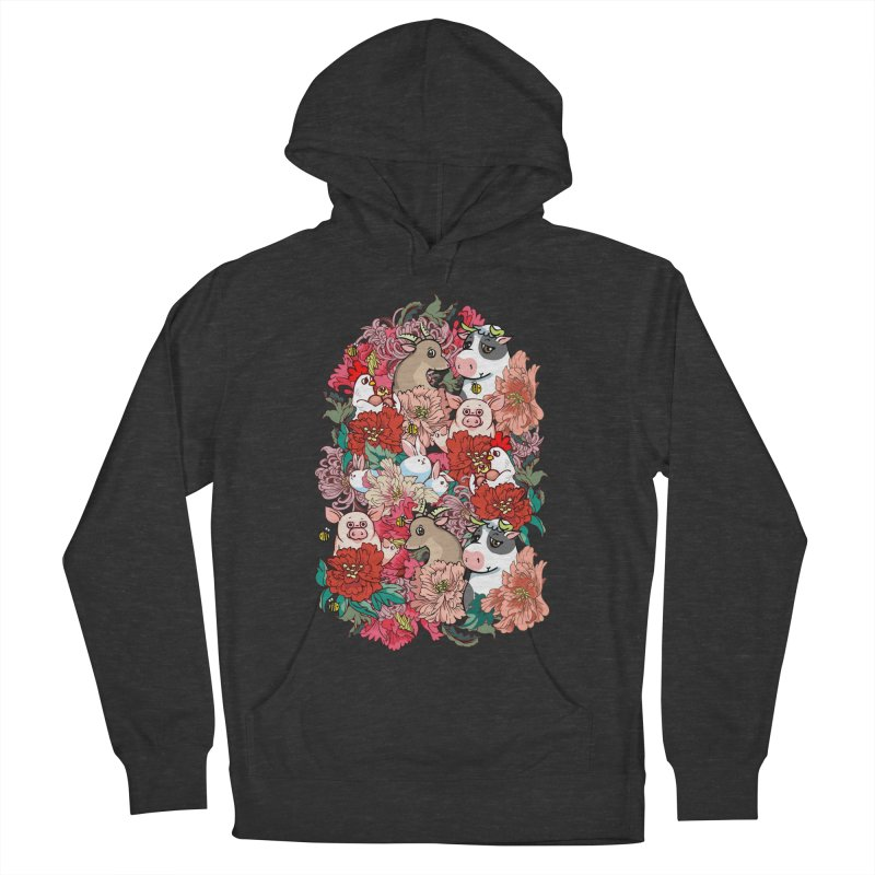 Because Vegan Men's French Terry Pullover Hoody by huebucket's Artist Shop