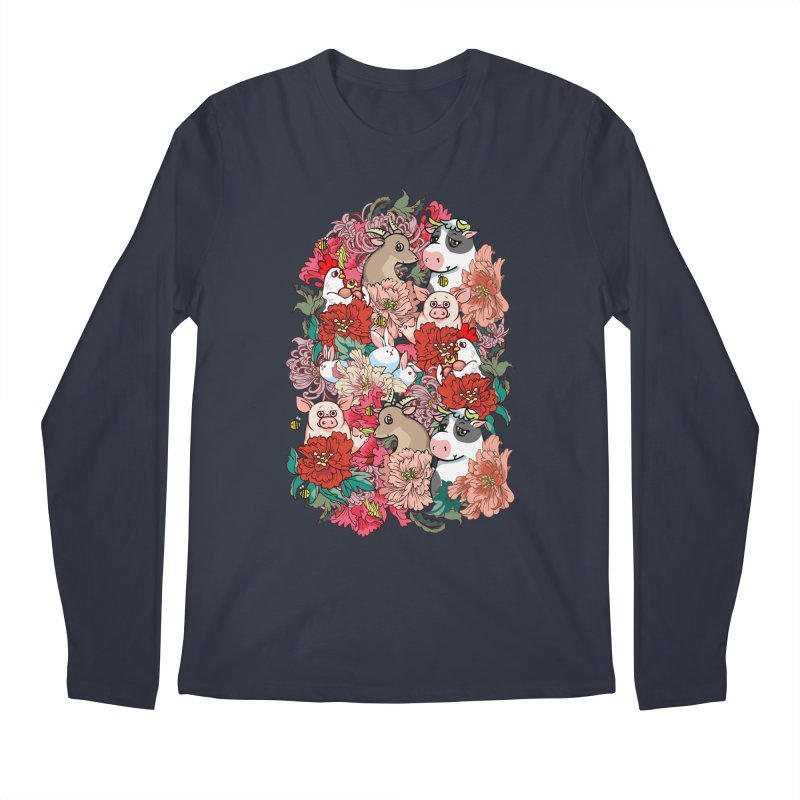 Because Vegan Men's Regular Longsleeve T-Shirt by huebucket's Artist Shop