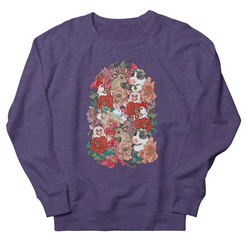 Because Vegan Women's French Terry Sweatshirt by huebucket's Artist Shop