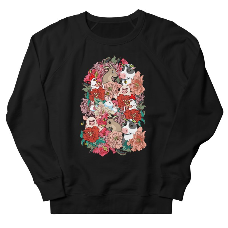 Because Vegan Men's French Terry Sweatshirt by huebucket's Artist Shop