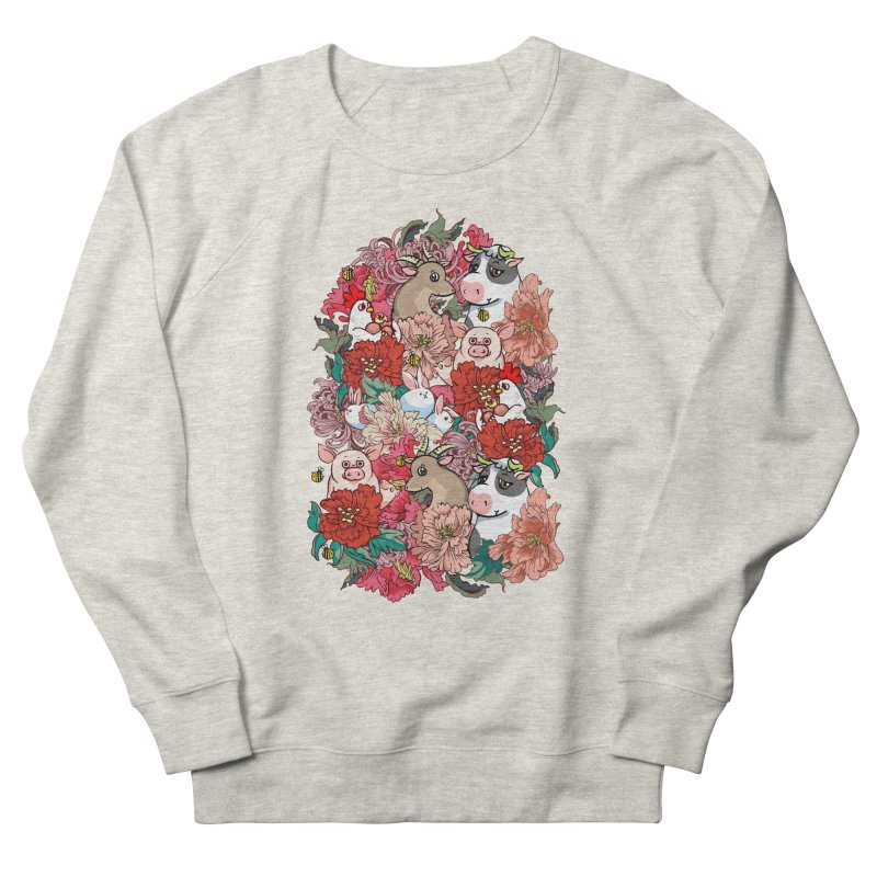 Because Vegan Men's French Terry Sweatshirt by huebucket's Artist Shop